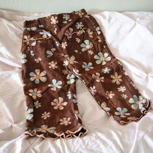 Retro boho floral pants for toddler baby g…